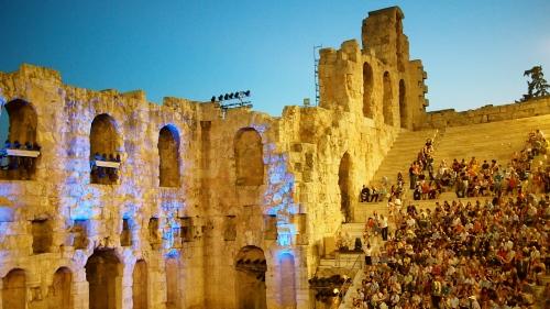 Filosofian maailmankongressin avajaiset pidettiin Herodes Atticuksen odeionilla.